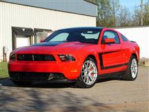 10-12 MUSTANG BOSS GLOSS BLACK C-STRIPE W/O FENDER EMBLEM