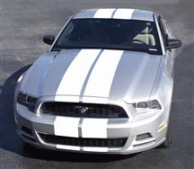 Mustang Lemans Racing Stripe Kit White (13-14)