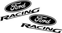 FORD RACING FLAT BLACK DECAL SET