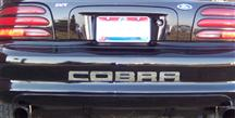 Mustang Cobra Rear Bumper Inserts Chrome (96-98)