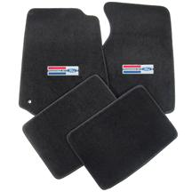 Mustang Floor Mats w/ Powered By Ford Logo Dark Charcoal (99-04)