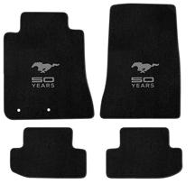 Mustang Lloyd Floor Mats - 50 Years Logo Black (2015)