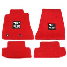 Mustang Lloyd Floor Mats - 50 Years Logo Red (2015)