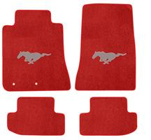 Mustang Lloyd Floor Mats - Pony Logo Red (2015)
