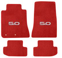 Mustang Lloyd Floor Mats - 5.0 Logo Red (2015)