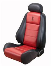 Mustang Cobra Convertible Leather Seat Upholstery with Red Leather Inserts (03-04)