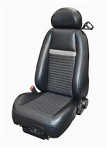 Mustang Mach 1 Coupe Vinyl Seat Upholstery Dark Charcoal  with Silver Stripe (03-04)