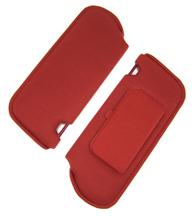 1985-86 MUSTANG CANYON RED CLOTH SUN VISORS WITH VANITY MIRROR