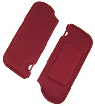 Mustang Sun Visors with Vanity Mirror Ruby Red Cloth (1993)