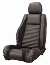 Mustang Sport R Upholstery Black/ Blue Stitching Leather (05-07) Coupe