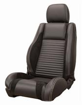 Mustang GT/V6 Sport R Upholstery Black/ White Stitching Leather (05-07) Coupe
