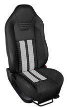 Mustang TMI Sport R500 Upholstery Kit BLK/WHT for Side Airbag Equip'd Cars (05-10) Coupe