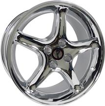 1979-93 Mustang Chrome Cobra R Wheel - 17X9