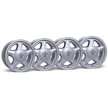 Mustang Pony Wheel & Center Cap Kit - 16x7 Silver (79-93)