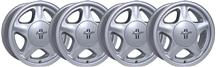 Mustang Pony Wheel And Licensed Cap Kit - 16x7 Silver (79-93)