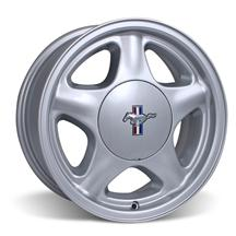 Mustang 5 Lug Pony Wheel & Center Cap - 17x8 Silver (79-93)