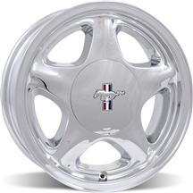 Mustang 5 Lug Pony Wheel & Center Cap - 17x8 Chrome (79-93)