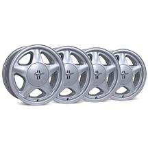 Mustang Pony Wheel & Center Cap Kit - 17x8/9 Silver (79-93)