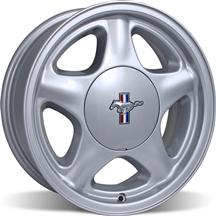 Mustang 5 Lug Pony Wheel & Center Cap - 17x9 Silver (79-93)