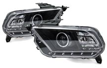 2010-12 MUSTANG BLACK CCFL HALO PROJECTOR HEADLIGHT KIT