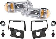 1987-93 Mustang Deluxe Headlight Kit with Amber Sidemarkers
