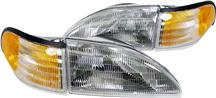 1994-98 Mustang Headlight Kit with Amber Sidemarkers