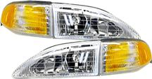 Mustang Cobra Headlight Kit with Amber Sidemarkers (94-98)