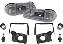 1987-93 Mustang Deluxe Headlight Kit with Clear Sidemarkers