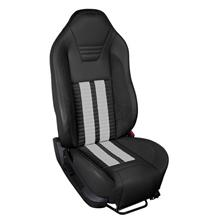 Mustang TMI Sport R500 Upholstery Kit Black W/ Black Unisuede & White Stripes (13-14) Coupe