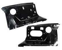 86-93 MUSTANG FRONT FENDER APRON PAIR, WITH FACTORY HOLES