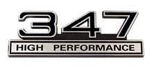Mustang 347 High Performance Emblem Black
