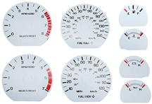 1999-04 Mustang 4.6L White Face Gauge Kit