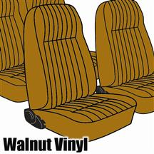 Mustang TMI Seat Upholstery Walnut Vinyl (1983) High Back L Coupe