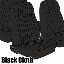 Mustang TMI Seat Upholstery Black Cloth (1983) High L Coupe