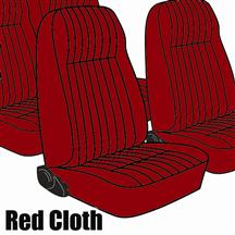 Mustang TMI Seat Upholstery Medium Red Cloth (1983) High L Coupe