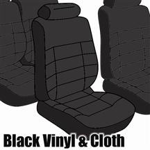 Mustang Seat Upholstery, Standard Low Back Black Cloth (1983) Coupe