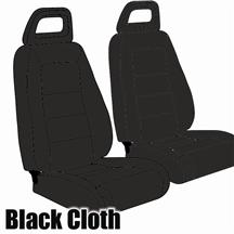 Mustang TMI Sport Seat Upholstery Black Cloth (1983) Convertible