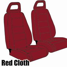 Mustang TMI Sport Seat Upholstery Medium Red Cloth (1983) Convertible