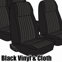 Mustang TMI Seat Upholstery Black Cloth (1983) High L Hatchback