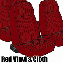 Mustang TMI Seat Upholstery Medium Red Cloth (1983) High L Hatchback