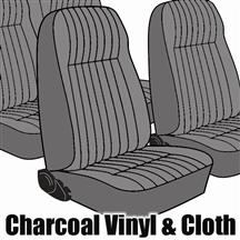 Mustang TMI Seat Upholstery Charcoal Gray Cloth (1984) L Coupe