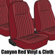 Mustang TMI Seat Upholstery Canyon Red Cloth (1984) L Coupe