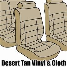 Mustang TMI Seat Upholstery Desert tan Cloth (1984) Coupe