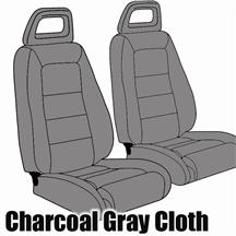 Mustang TMI Sport Seat Upholstery Charcoal Grat (1984) Convertible