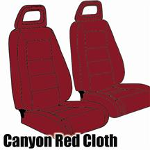 Mustang TMI Sport Seat Upholstery Canyon Red Cloth (1984) Convertible