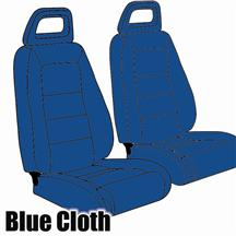 Mustang TMI Sport Seat Upholstery Academy Blue Cloth (1984) Convertible