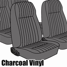 Mustang TMI Seat Upholstery Charcoal Gray (1984) L Hatchback