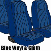 Mustang TMI Seat Upholstery Academy Blue Cloth (1984) L Hatchback