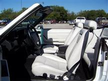 1993 MUSTANG CONVERTIBLE LIMITED EDITION WHITE LEATHER SPORT SEAT UPHOLSTERY'