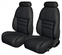 Mustang TMI Sport Seat Upholstery Black Leather (1997) Coupe